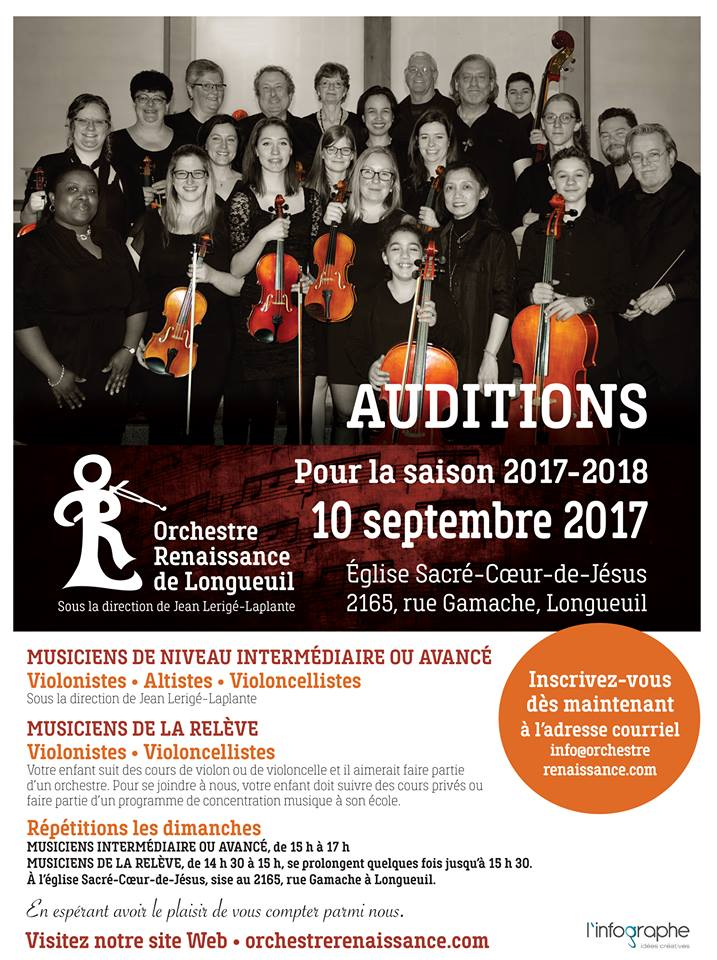 Auditions 10 sept